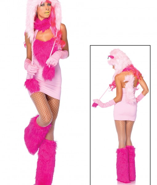 Pink Puff Monster Costume