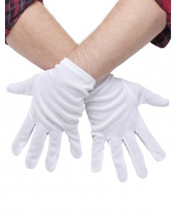 Plus Size White Gloves