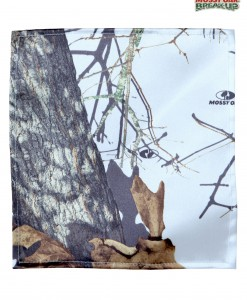 White Mossy Oak Pocket Square