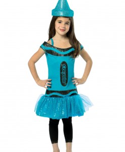 Child Crayola Glitz Blue Dress