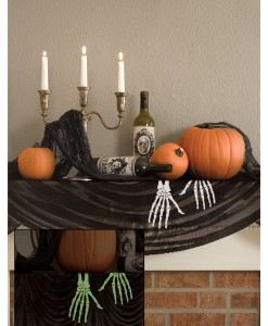 Glow in the Dark Skeleton Hands Mantle Scarf