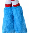 Adult Light Blue Furry Boot Covers