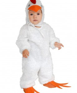 Toddler White Rooster Costume