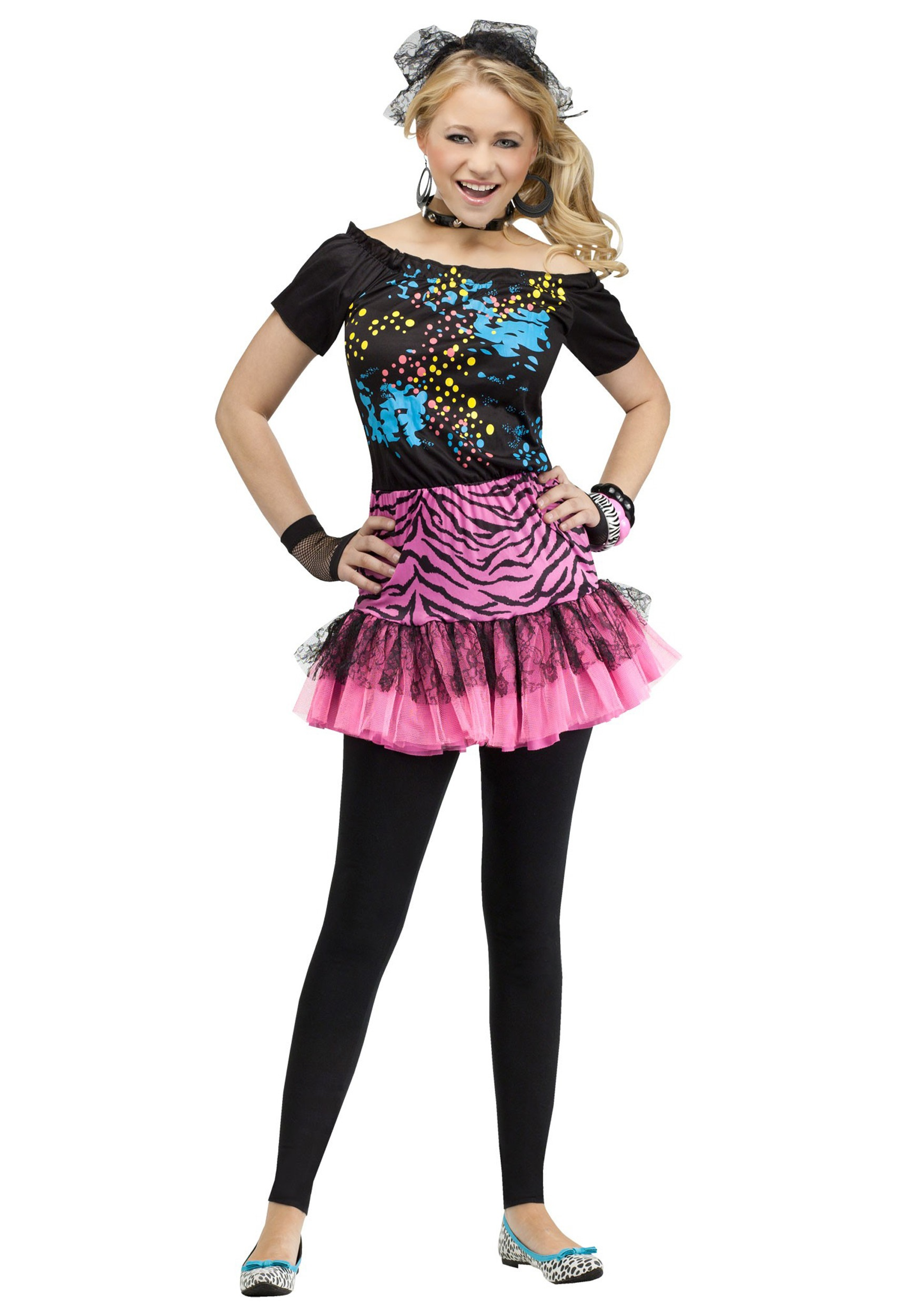 Teen 80s Pop Party Costume Halloween Costume Ideas 2018