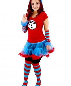 Thing 1 & Thing 2 Adult Tutu Costume
