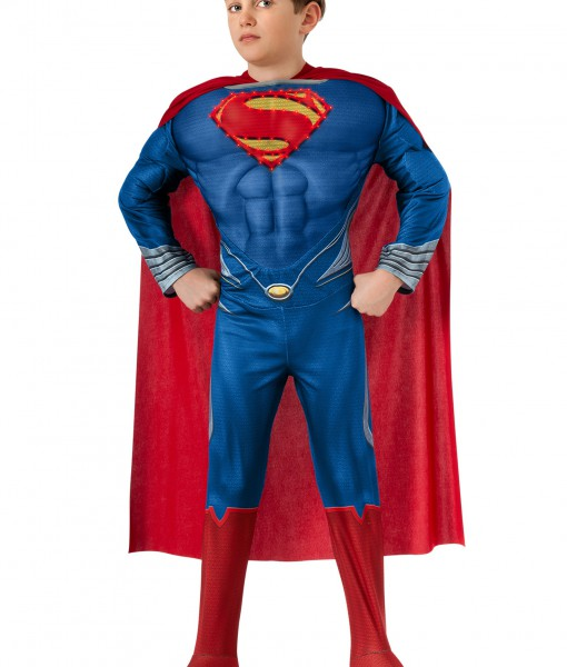 Deluxe Lite Up Man of Steel Superman Child Costume