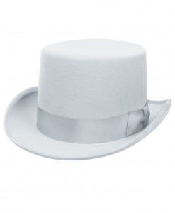 Powder Blue Wool Top Hat