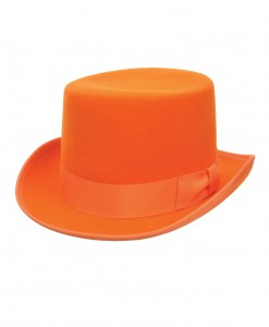 Orange Wool Top Hat