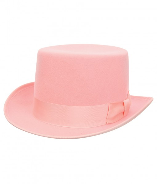 Pink Wool Top Hat