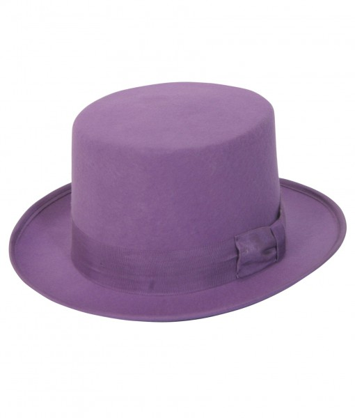 Purple Wool Top Hat
