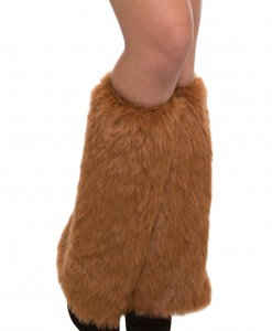 Adult Brown Furry Leg Warmers