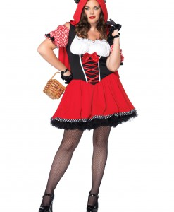 Women's Plus Size Red Riding Wolf Costume