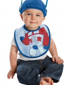 Infant Optimus Prime Hat and Bib Set