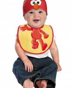 Infant Elmo Hat and Bib Set
