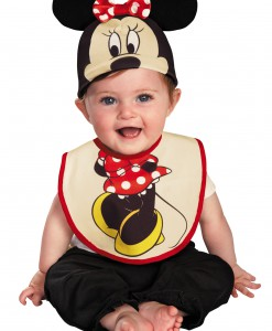 Infant Minnie Mouse Hat and Bib Set