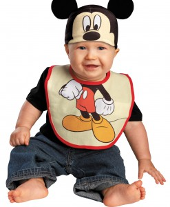 Infant Mickey Mouse Hat and Bib Set