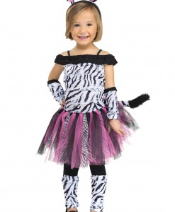 Toddler Little Miss Zebra Costume