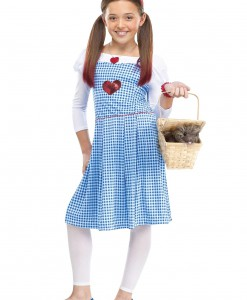Girls Sequin Heart Kansas Girl Costume