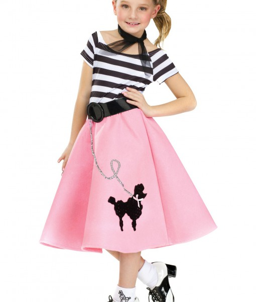 Girls Poodle Skirt Dress  sc 1 st  Halloween Costumes : poodle costume ideas  - Germanpascual.Com