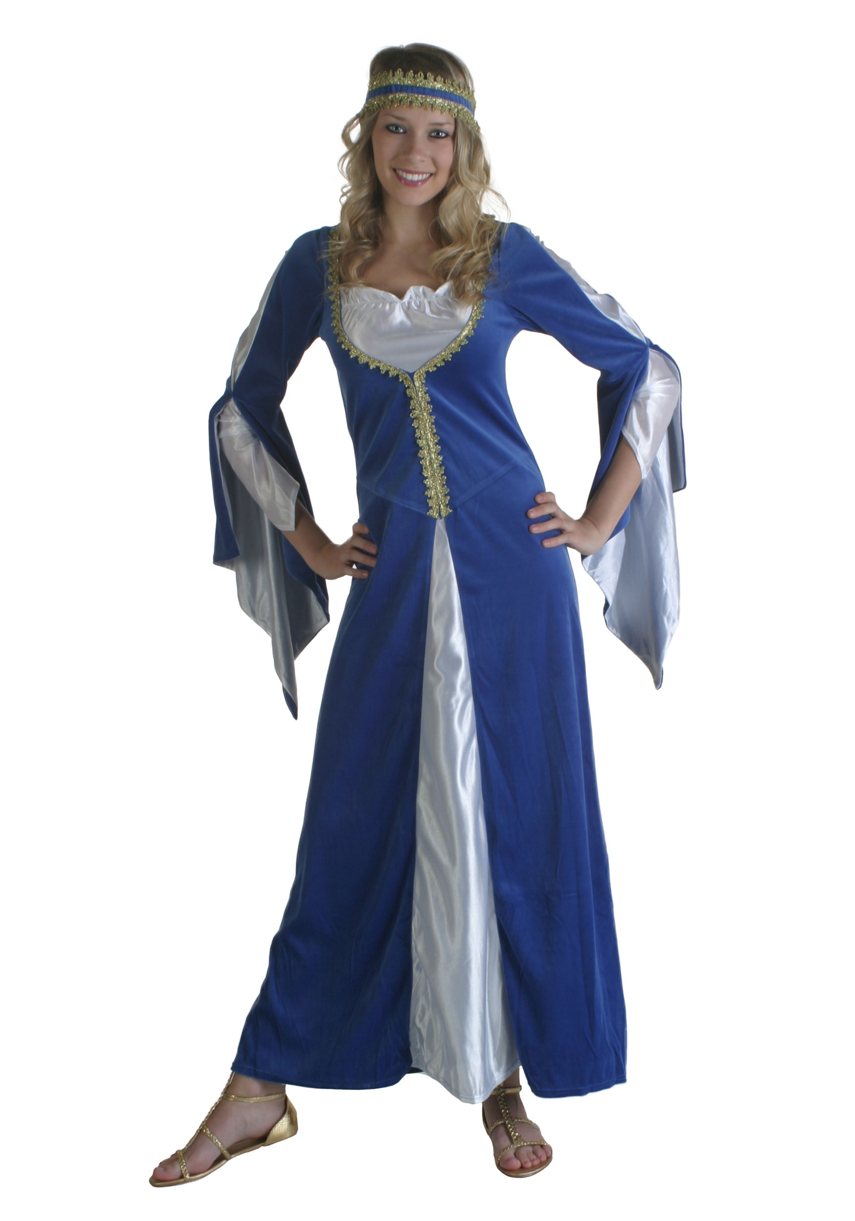 Halloween Costume 303.Blue Regal Princess Renaissance Costume