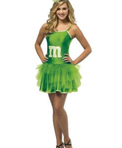 Teen Green M&M Party Dress