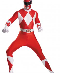 Plus Size Red Ranger Bodysuit Costume