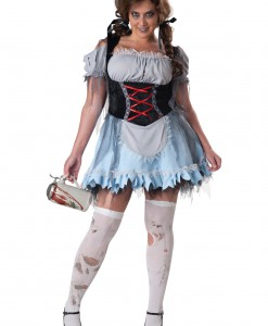 Plus Size Zombie Beer Maiden Costume