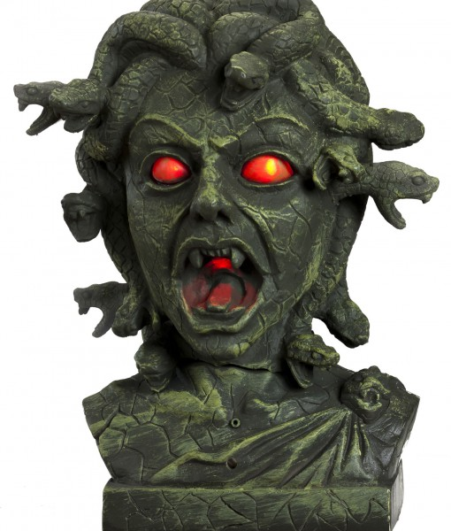 Animated Medusa Bust w/ Light Up Eyes