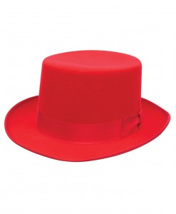 Red Wool Top Hat
