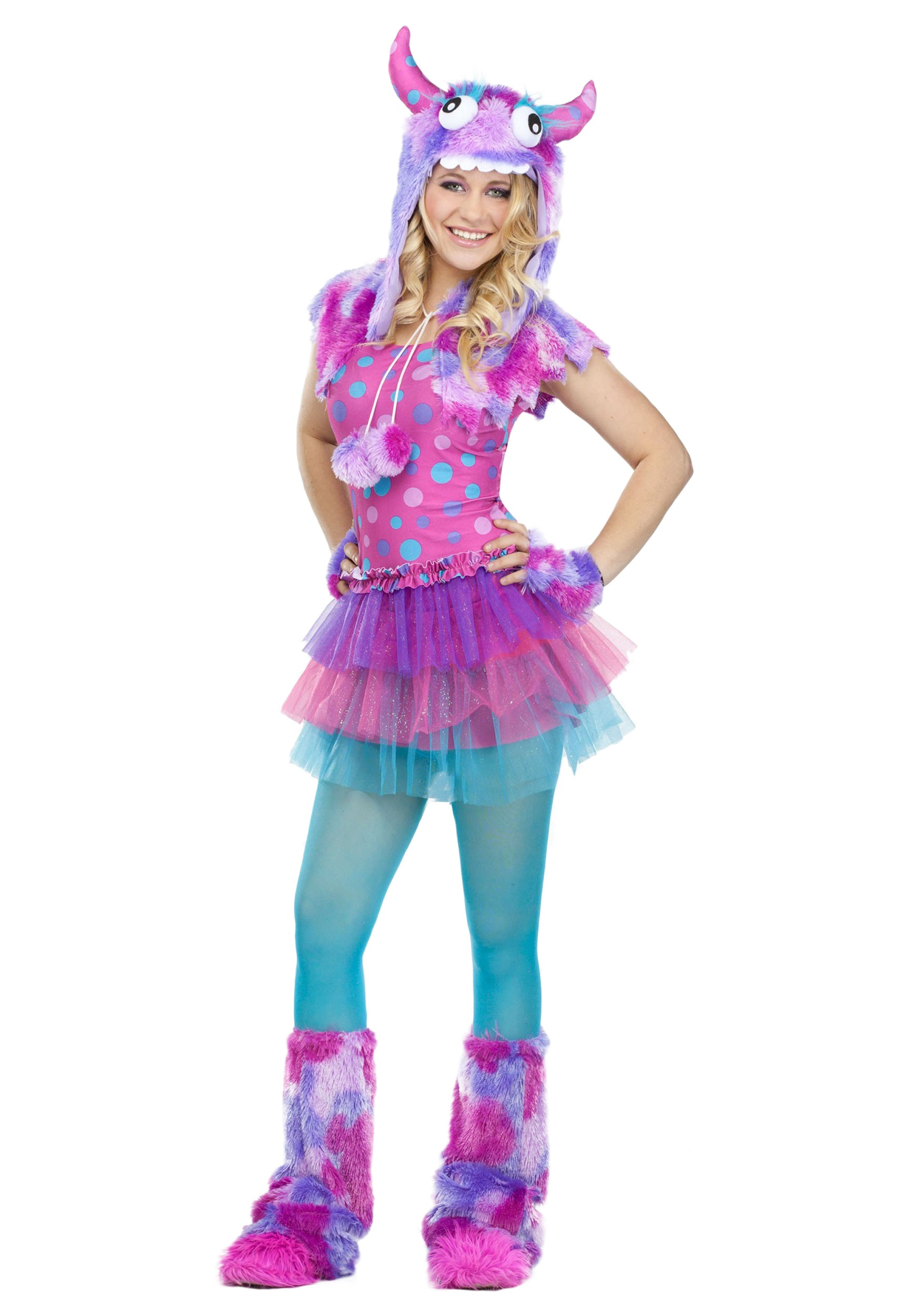 teen polka dot monster costume