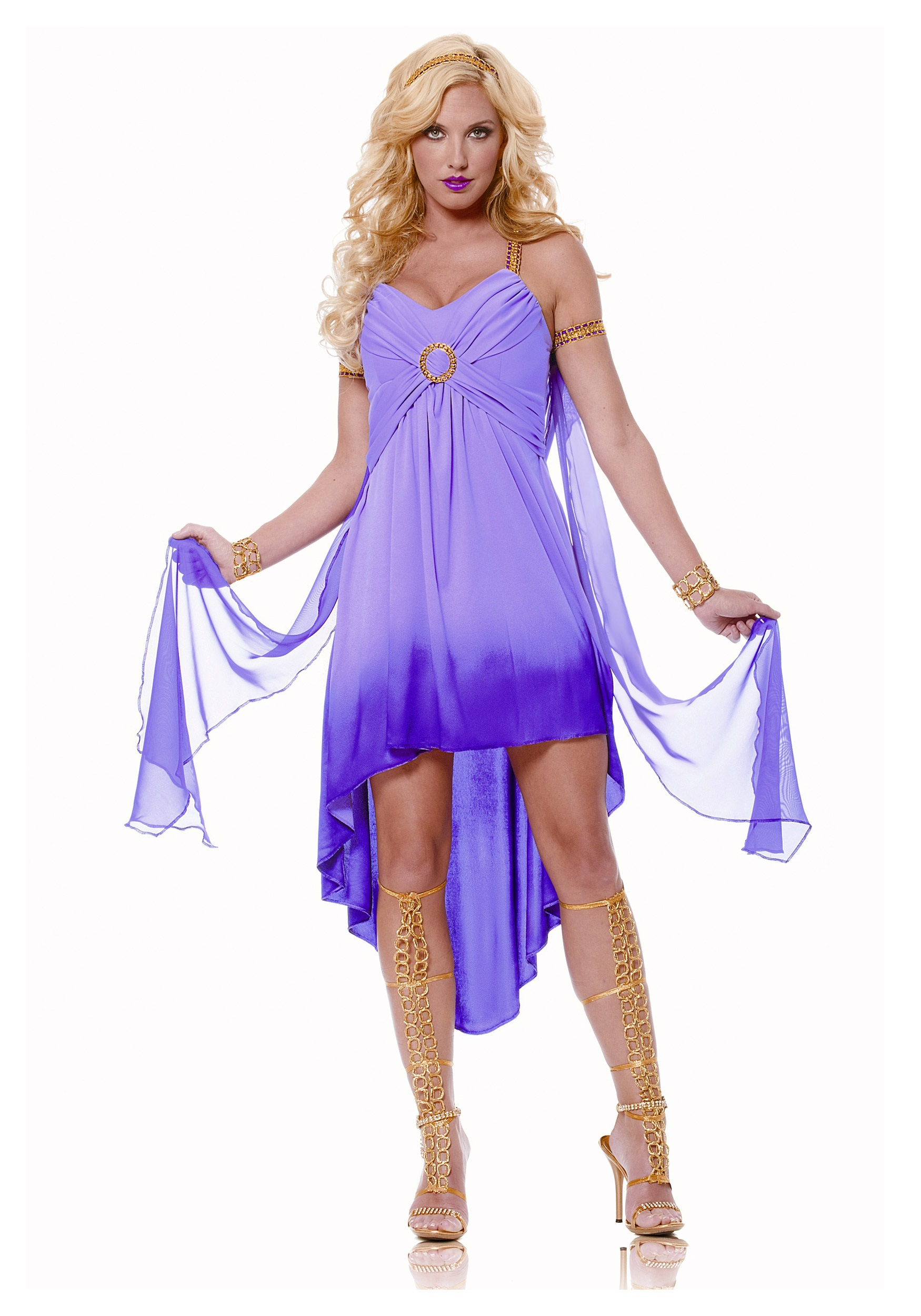 adult purple roman goddess costume - halloween costume ideas 2018