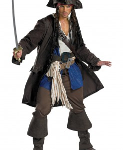 Plus Size Prestige Captain Jack Sparrow Costume