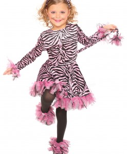 Girls Pink Tiger Costume