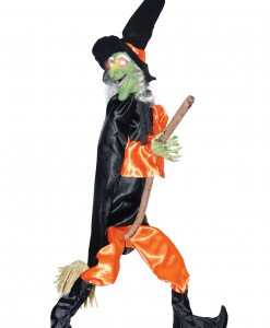 Leg Kicking Witch w/ Broom
