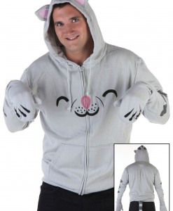 Mens Soft Kitty Hoodie