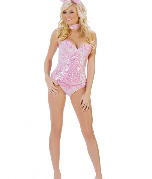 Pink Sequin Bunny Costume
