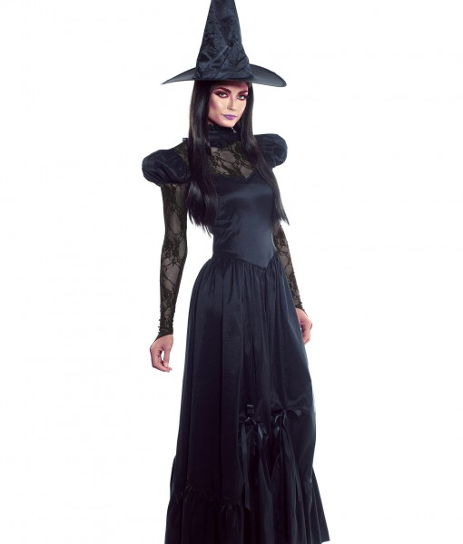 Women's Plus Size Emerald Witch Costume