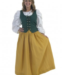 Plus Size Gold Peasant Skirt