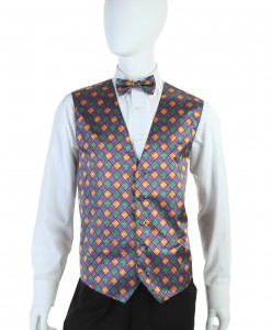 Mardi Gras Vest and Tie Set