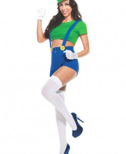Womens Green Player Costume