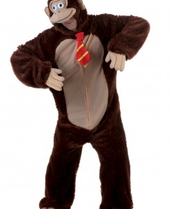 Adult Brown Gorilla w/ Tie Costume