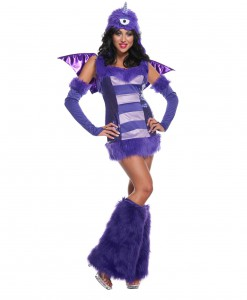 Sexy One Eyed One Horn Flying Purple People Eater Costume