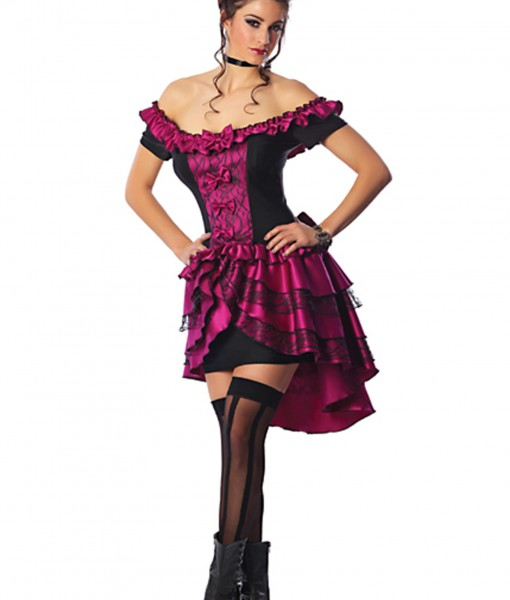 Plus Size Violet Dance Hall Queen Costume