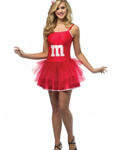 Teen Red M&M Party Dress
