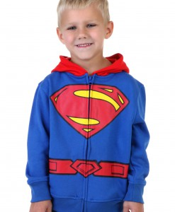 Toddler Superman Logo Costume Hoodie