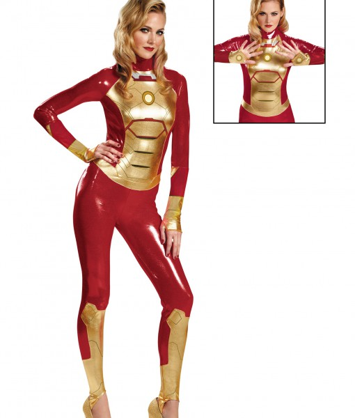 sassy iron man mark 42 lycra bodysuit costume