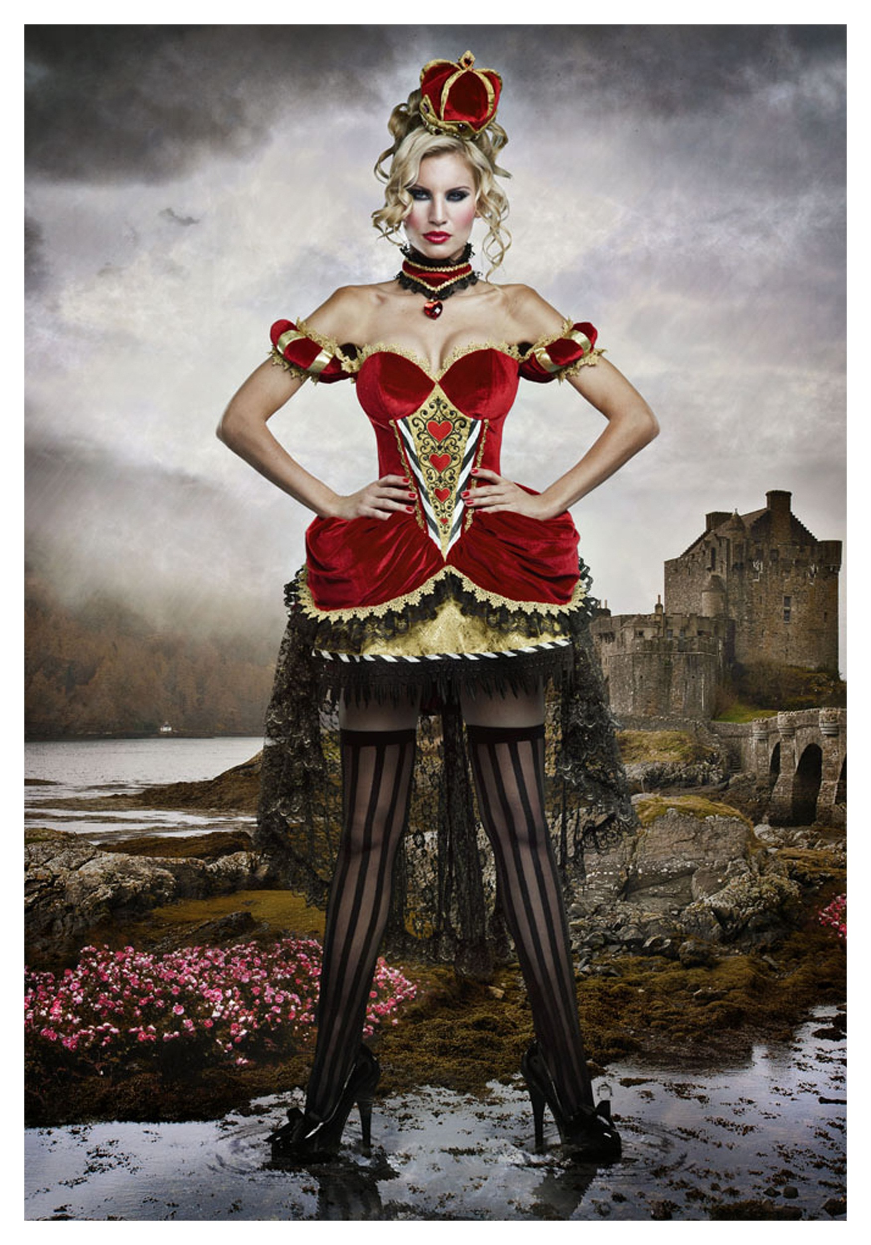 deluxe queen of hearts costume halloween costume ideas 2018