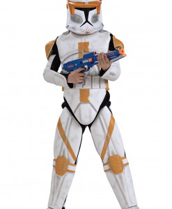 Boys Deluxe Clone Trooper Commander Cody Costume