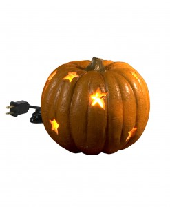 Lighted Stars Pumpkin