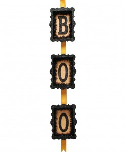 Orange & Black Boo Sign